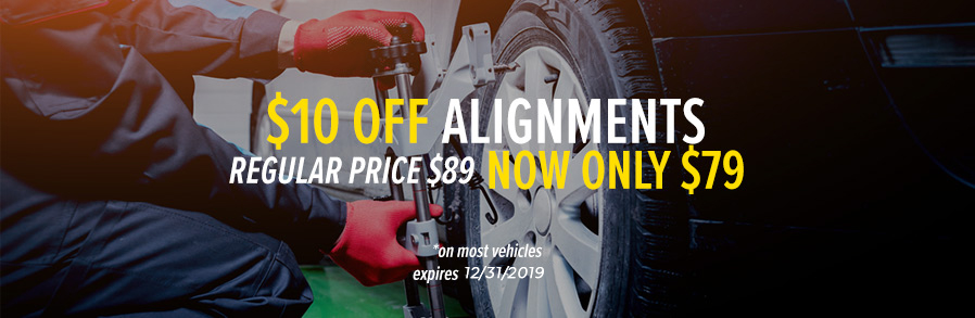 $10 off alignment banner